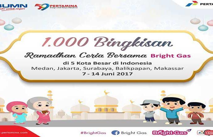 Bright Gas Berbagi 1.000 Bingkisan Lebaran untuk Anak Yatim