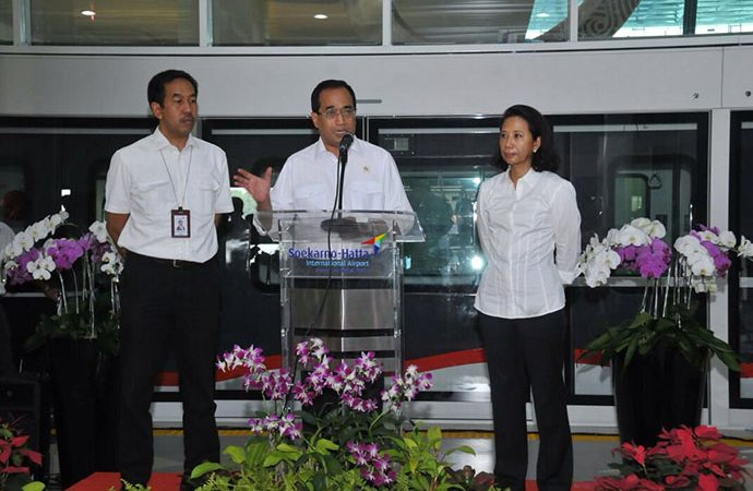 Menhub Luncurkan Sky Train Bandara Soetta di Hari Perhubungan Nasional