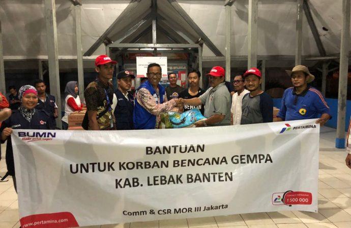 Pertamina Salurkan Bantuan untuk Korban Gempa Bumi di Banten