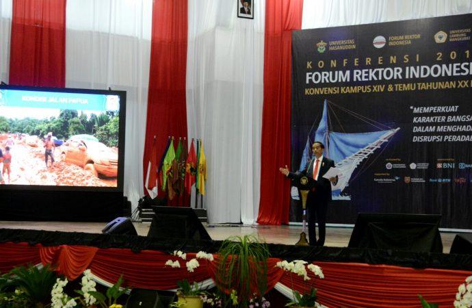 Jokowi Menantang Rektor Buka Kampus Inovatif