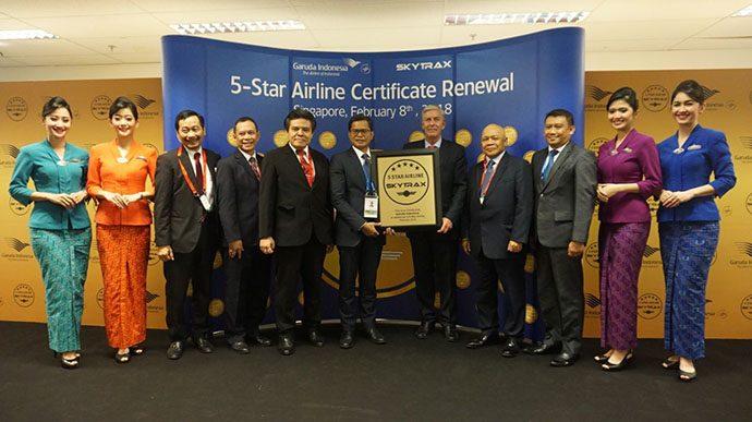 Garuda Indonesia Pertahankan Predikat Maskapai Bintang Lima Skytrax