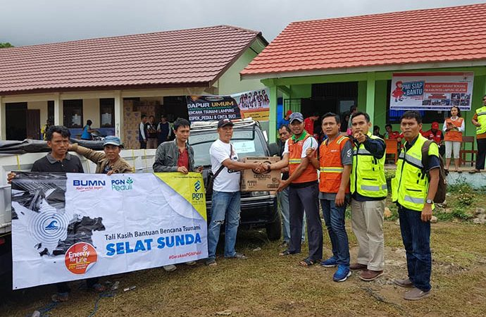 Korban Tsunami di Lampung Terima Bantuan PGN