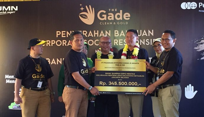 Pegadaian Resmikan Bank Sampah Jadi Emas di Menteng, Jakarta