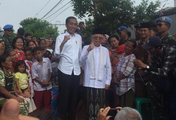 Jokowi-Amin Tanggapi Kemenangan di Tanah Tinggi