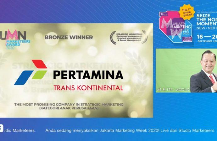 PTK Raih Penghargaan di Ajang BUMN Marketeers Awards 2020