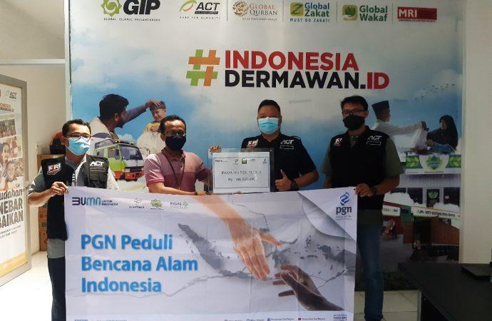PGN Salurkan Bantuan Bencana di Sulawesi Barat dan Kalimantan Barat