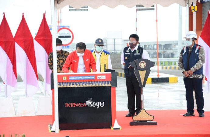 Jokowi Resmikan Tol Kayu Agung – Palembang