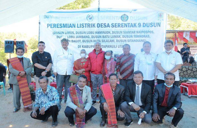 Terangi Sembilan Dusun di Taput, Rasio Elektrifikasi Sumut Capai 99,99 Persen