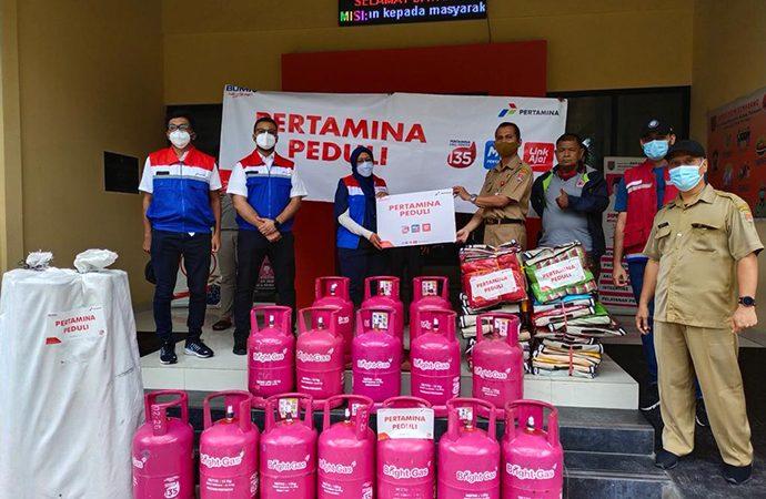 Pertamina Salurkan Bantuan 350 Tabung BrightGas untuk Jateng