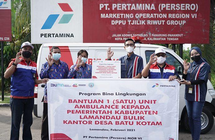Pertamina Sumbang Ambulans dan Mobil Jenazah Untuk Masyarakat Kalteng