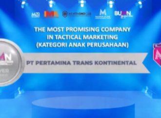 Pertamina Trans Kontinental Raih Penghargaan BUMN Marketeers Award 2021