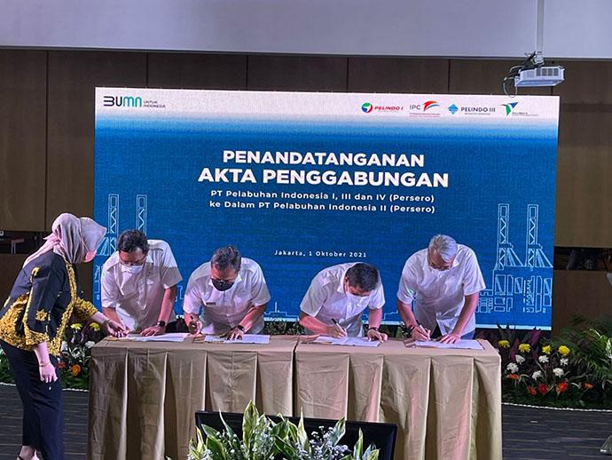 Penandatanganan Akta Merger Pelindo